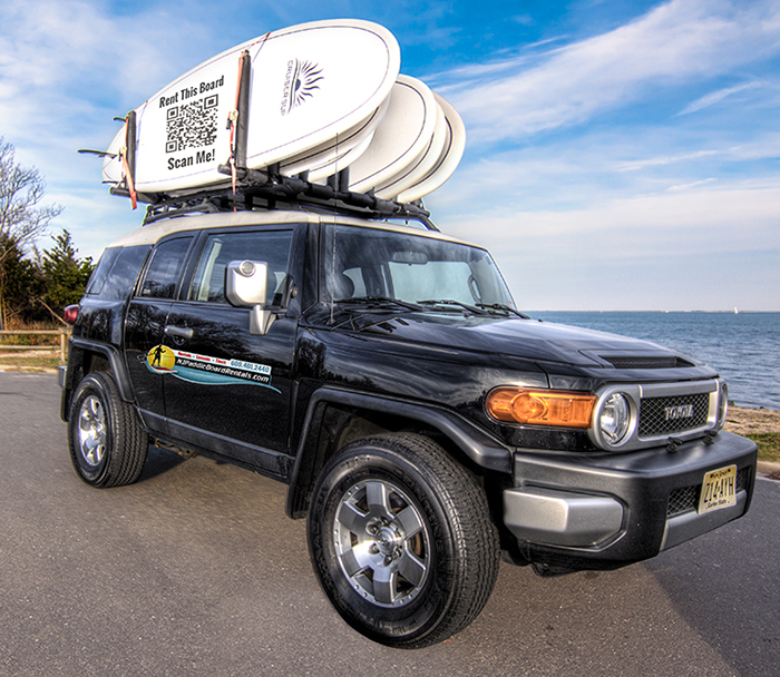 Stand Up Paddle Board Rack on FJ Cruiser